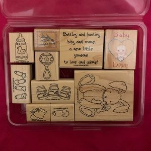 Stampin up Baby set plus extras!  Retired!